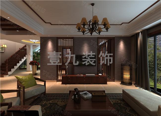 滨河阳光古典装修风格的别墅设计